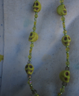 skull jewelry unique yellow howlite skull dangle necklace