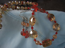 Austrian cut crystal necklace  and earring set